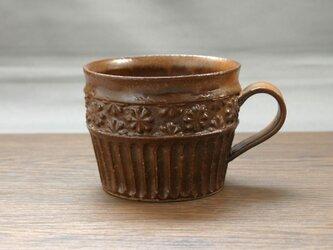 赤銅釉 マグカップ(貼花)の画像