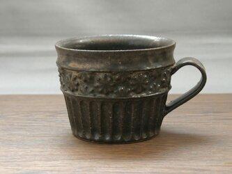 黒結晶釉 マグカップ(貼花)の画像