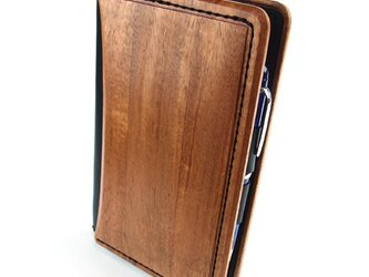 木と革で作った システム手帳 バイブルサイズの画像