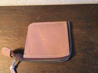 コインケース(ピンク×オフホワイト)の画像