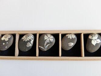 四季の花箸置きの画像