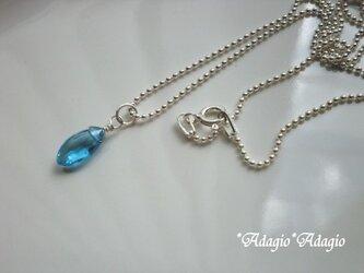 スイスブルートパーズのネックレスの画像