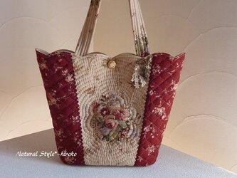 1様ご予約品:スカラップのキルティング手提げバッグの画像