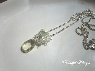 グリーンベリルのネックレスの画像