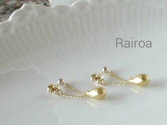 <送料無料>Gold beads triangle pierceの画像