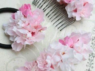 桜の花の髪飾り 3点セットの画像