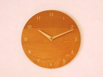 掛け時計 丸 けやき材24の画像