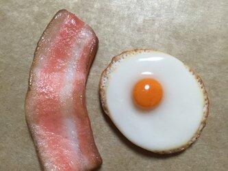 目玉焼き&ベーコン マグネット 再販の画像