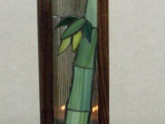 長型行灯(冬の竹林)の画像