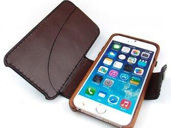 木と革で作った iPhone6s専用ケース Bookタイプの画像