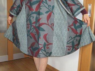 着物リメイク… フレアーワンピース… ー 再出品 ー 二割引 7200 一点品の画像