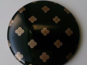 蒔絵姫鏡『銀花 黒地』の画像