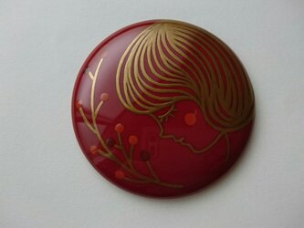 蒔絵姫鏡『女の子(金)』の画像