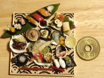 ★天ぷら&にぎり寿司(ちりめん生地)の画像