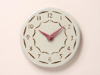 陶製掛け時計φ185(グレー)の画像