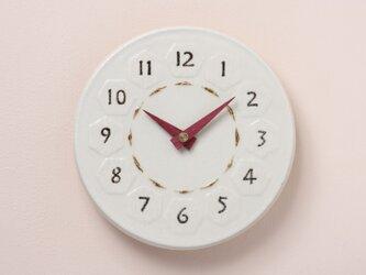 亀甲・丸型Pφ190(陶製掛時計)の画像