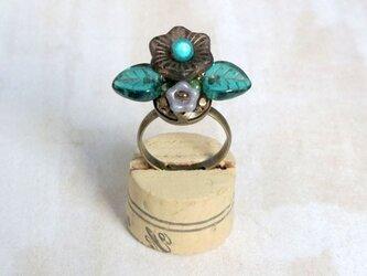 お花の指輪(マットブラック)の画像