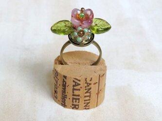 お花の指輪(ミルキーピンク)の画像