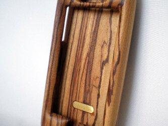 木製iPhoneケース(ゼブラウッド・フルカバー)の画像