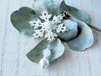 雪の結晶のかんざしの画像