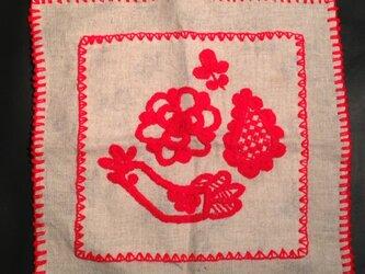 リネン刺繍布1の画像