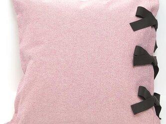 【カバーのみ】 canvas plain  クッションカバー ribbon SQの画像