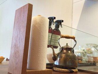 楢(ナラ・オーク)無垢材のタオルハンガー / キッチンペーパーホルダーの画像