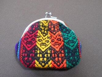 色鮮やかペルー織物マンタ*カラフル黒地の画像