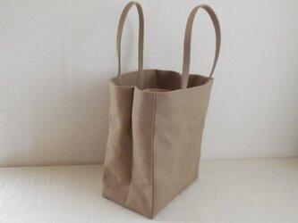 帆布 紙袋バッグの画像