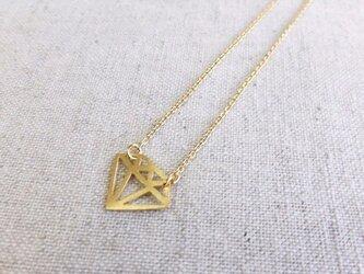 宝石カットネックレス(ダイヤ)の画像