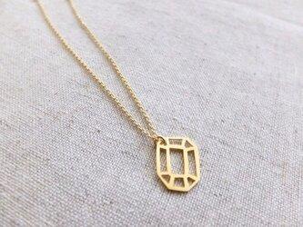 宝石カットネックレス(エメラルド)の画像