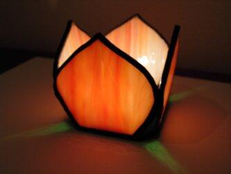 キャンドルホルダー・花(オレンジ)の画像