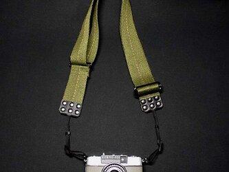 ミリタリーカメラベルトFrance 先端幅7mmミラーレス、小型カメラ用の画像
