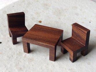 カフェテーブルセット(BW)の画像