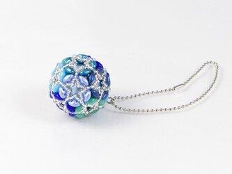 花てまりのバッグチャーム・ブルーの画像