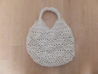 パイナップル編みのバッグの画像
