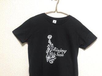 【Rising sun】Rocky's オリジナルTシャツ ブラックの画像