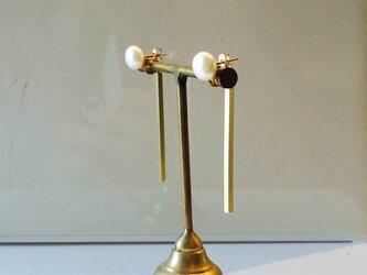 *14kgf water pearl 2way pierce np*の画像
