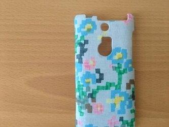 iphoneケース*ミナペルホネン*flowerbed ライトブルーの画像