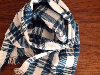 手織りカシミアストールの画像