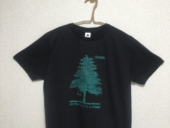 【Big tree】Rocky's オリジナルTシャツ  ブラックの画像