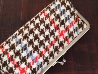 手織りガマ口ポーチ(RORA)の画像