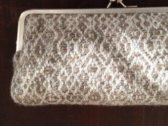 手織りウールのガマ口(BGH)の画像