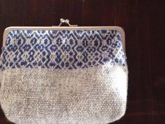 手織りウールのガマ口(BGH)大の画像