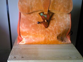 ボストンバッグ / オレンジの画像
