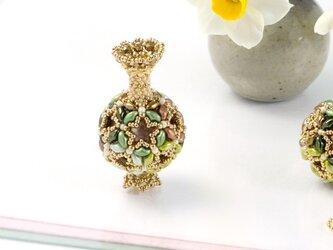花てまりの飾り瓶・オリーブの画像