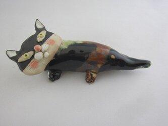 壁掛け花器にもなるネコちゃんの画像