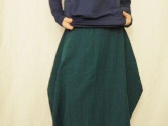 《sold out》変形スカート 体型カバー 綿麻の画像