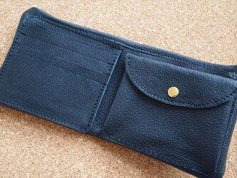 【オーダーメイド】ぶた革やわらか二つ折りサイフ【レザーウォレット】受注生産の画像