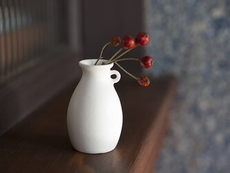 白のちいさな花器 770の画像